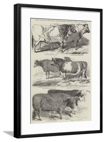 Prize Cattle at the Royal Agricultural Society's Show, at Windsor-Harrison William Weir-Framed Art Print