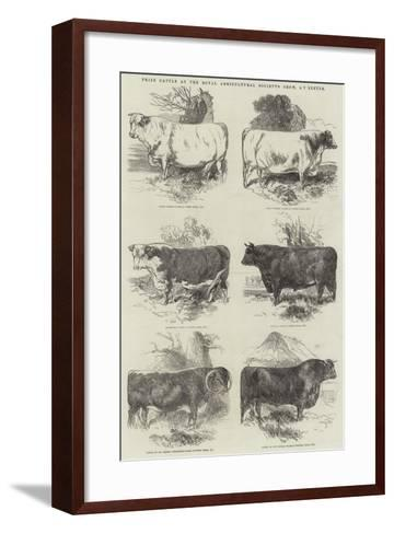 Prize Cattle at the Royal Agricultural Society's Show, at Exeter-Harrison William Weir-Framed Art Print