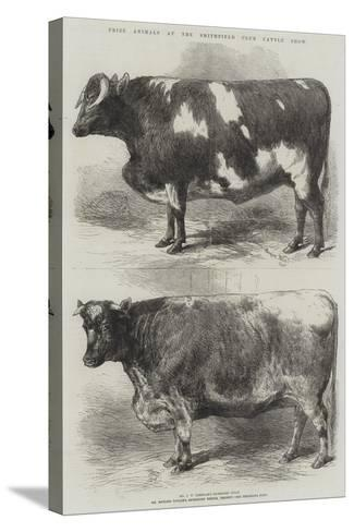 Prize Animals at the Smithfield Club Cattle Show-Harrison William Weir-Stretched Canvas Print