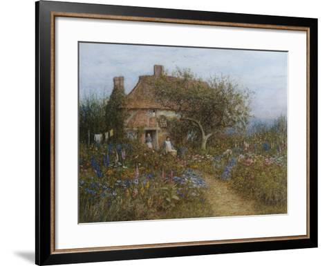 A Cottage Near Brook, Witley, Surrey-Helen Allingham-Framed Art Print