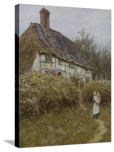 The Priest's House, West Hoathly-Helen Allingham-Stretched Canvas Print