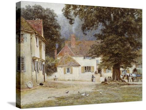 A Cart by a Village Inn, 1878-Helen Allingham-Stretched Canvas Print