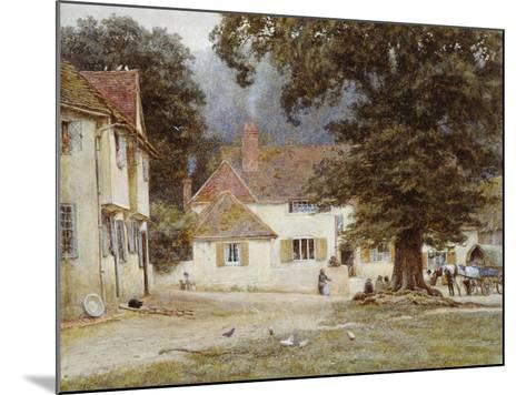 A Cart by a Village Inn, 1878-Helen Allingham-Mounted Giclee Print