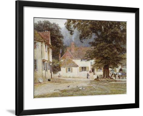 A Cart by a Village Inn, 1878-Helen Allingham-Framed Art Print