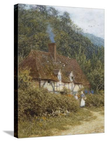 A Cottage Near Witley, Surrey-Helen Allingham-Stretched Canvas Print