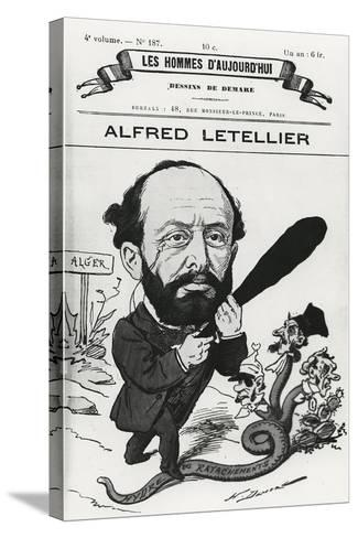 Caricature of Alfred Letellier, from 'Les Hommes D'Aujourd'Hui'-Henri Demare-Stretched Canvas Print
