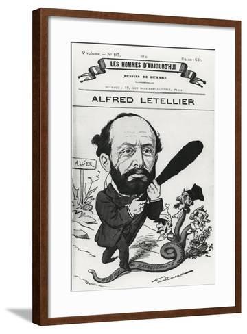 Caricature of Alfred Letellier, from 'Les Hommes D'Aujourd'Hui'-Henri Demare-Framed Art Print