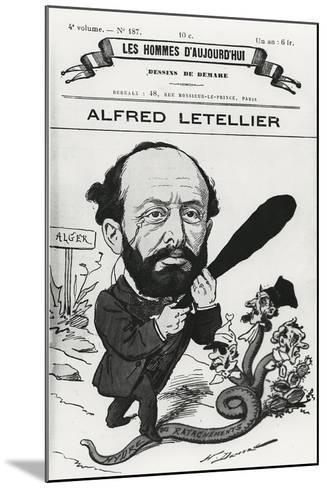Caricature of Alfred Letellier, from 'Les Hommes D'Aujourd'Hui'-Henri Demare-Mounted Giclee Print