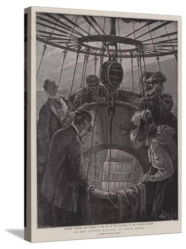 In the Captive Balloon at Earl's Court-Henri Lanos-Stretched Canvas Print