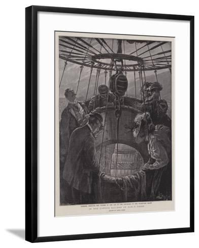 In the Captive Balloon at Earl's Court-Henri Lanos-Framed Art Print