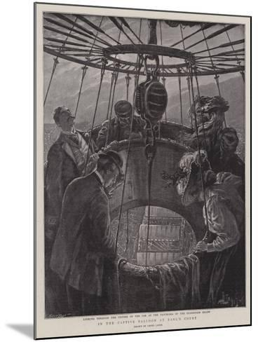 In the Captive Balloon at Earl's Court-Henri Lanos-Mounted Giclee Print