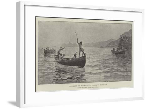 Fisherman of Positano, in the Exhibition at the New Gallery-Hamilton Macallum-Framed Art Print