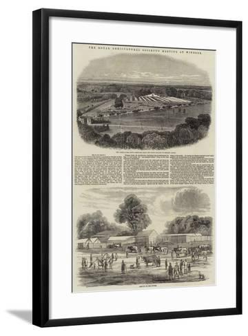 The Royal Agricultural Society's Meeting at Windsor-Harrison William Weir-Framed Art Print