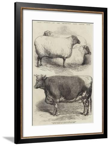 Prize Animals at the Smithfield Club Cattle Show-Harrison William Weir-Framed Art Print