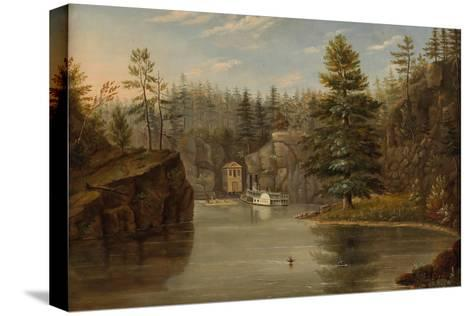 Gorge of the St. Croix, 1847-Henry Lewis-Stretched Canvas Print