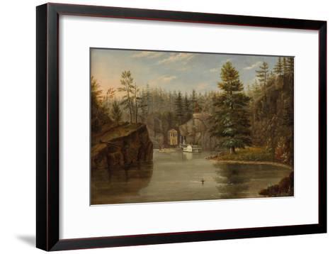 Gorge of the St. Croix, 1847-Henry Lewis-Framed Art Print