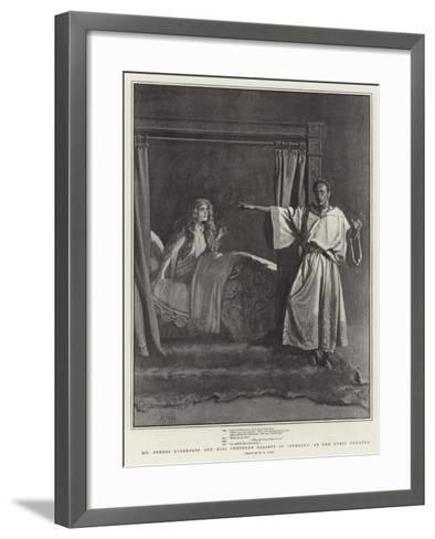 Mr Forbes Robertson and Miss Gertrude Elliott in Othello at the Lyric Theatre-Henry Marriott Paget-Framed Art Print