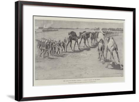 The Advance Towards Dongola, a Convoy Passing to the Front-Henry Charles Seppings Wright-Framed Art Print