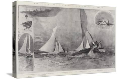 The Contest for the America Cup, the Rival Yachts-Henry Charles Seppings Wright-Stretched Canvas Print