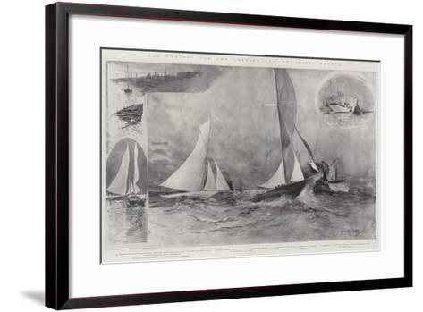 The Contest for the America Cup, the Rival Yachts-Henry Charles Seppings Wright-Framed Art Print