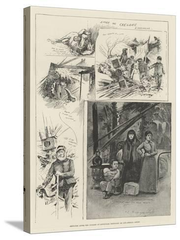 Sketches after the Cyclone at Louisville, Kentucky-Henry Charles Seppings Wright-Stretched Canvas Print
