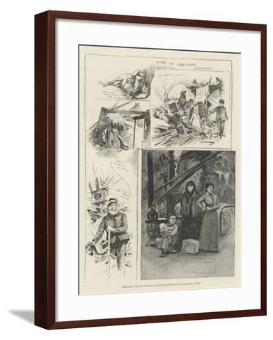 Sketches after the Cyclone at Louisville, Kentucky-Henry Charles Seppings Wright-Framed Art Print