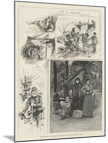 Sketches after the Cyclone at Louisville, Kentucky-Henry Charles Seppings Wright-Mounted Giclee Print