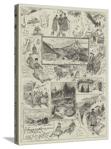 Winter at Les Avants-Henry Edward Tidmarsh-Stretched Canvas Print