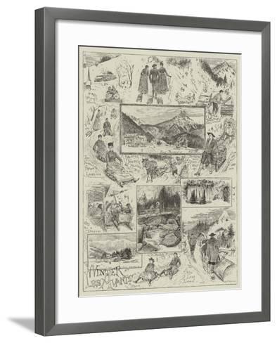 Winter at Les Avants-Henry Edward Tidmarsh-Framed Art Print