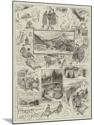 Winter at Les Avants-Henry Edward Tidmarsh-Mounted Giclee Print