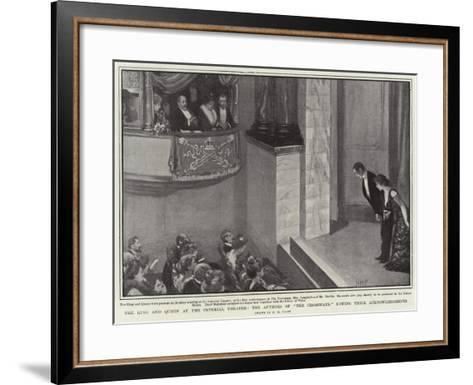 The King and Queen at the Imperial Theatre-Henry Marriott Paget-Framed Art Print