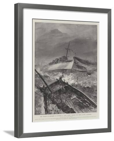 The Typhoon at Hong-Kong on 10 November, HMS Otter Rescuing the Crew of HMS Sandpiper-Henry Charles Seppings Wright-Framed Art Print