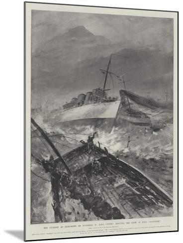 The Typhoon at Hong-Kong on 10 November, HMS Otter Rescuing the Crew of HMS Sandpiper-Henry Charles Seppings Wright-Mounted Giclee Print