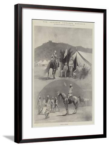 The Advance Towards Dongola, Scenes at Akasheh-Henry Charles Seppings Wright-Framed Art Print