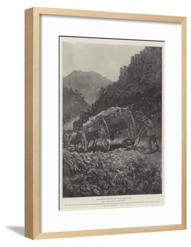 A Boer Method of Getting Wagons Down Steep Places-Henry Charles Seppings Wright-Framed Art Print