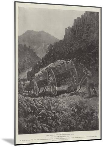 A Boer Method of Getting Wagons Down Steep Places-Henry Charles Seppings Wright-Mounted Giclee Print
