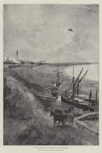 Military Ballooning, Experiments at Shoeburyness-Henry Charles Seppings Wright-Stretched Canvas Print