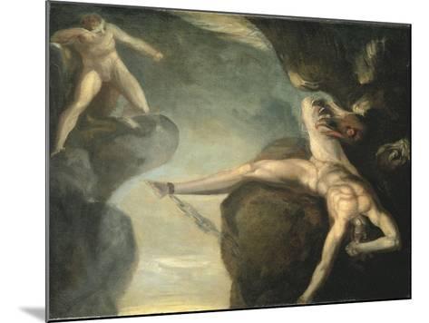 Prometheus Freed by Hercules, 1781-1785-Henry Fuseli-Mounted Giclee Print