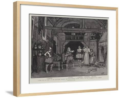Under the Red Robe at the Haymarket Theatre-Henry Marriott Paget-Framed Art Print