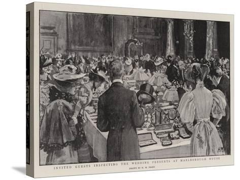 Invited Guests Inspecting the Wedding Presents at Marlborough House-Henry Marriott Paget-Stretched Canvas Print