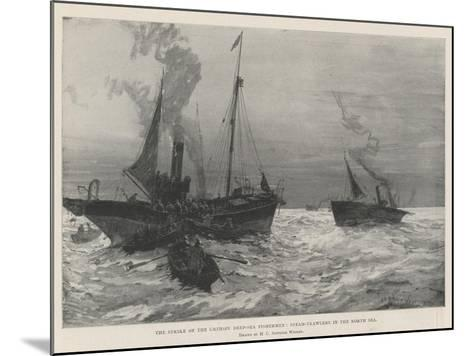 The Strike of the Grimsby Deep-Sea Fishermen, Steam-Trawlers in the North Sea-Henry Charles Seppings Wright-Mounted Giclee Print