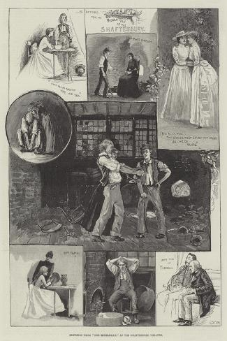 Sketches from The Middleman, at the Shaftesbury Theatre-Henry Charles Seppings Wright-Stretched Canvas Print