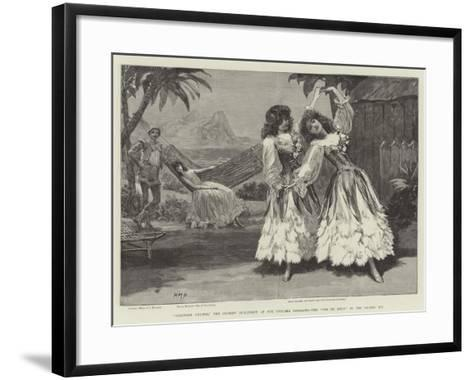 Robinson Crusoe, the Guards' Burlesque at the Chelsea Barracks, the Pas De Deux in the Second Act-Henry Marriott Paget-Framed Art Print