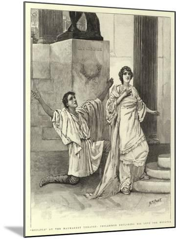 Hypatia at the Haymarket Theatre, Philammon Declaring His Love for Hypatia-Henry Marriott Paget-Mounted Giclee Print
