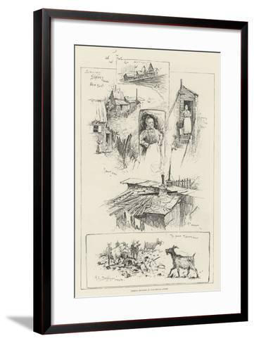 Sketches in Shanty Town, New York-Henry Charles Seppings Wright-Framed Art Print