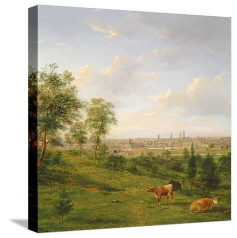 View of Melbourne, 19th Century-Henry Gritten-Stretched Canvas Print