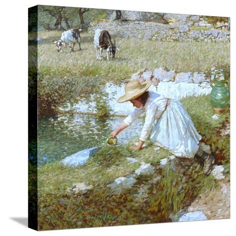 A Provencal Stream, C.1903-Henry Herbert La Thangue-Stretched Canvas Print