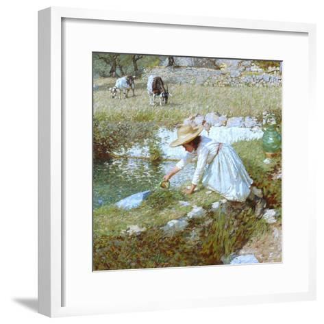 A Provencal Stream, C.1903-Henry Herbert La Thangue-Framed Art Print