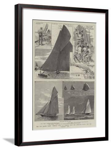 The New Racing Yacht Thistle, Built to Compete with the American Yachts for the America Cup-Henry Charles Seppings Wright-Framed Art Print