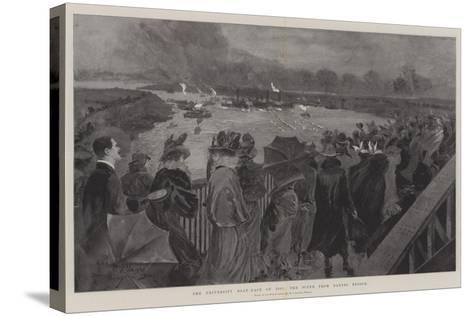 The University Boat-Race of 1901, the Scene from Barnes Bridge-Henry Charles Seppings Wright-Stretched Canvas Print